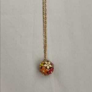 Jcrew Factory necklace with flower ball.